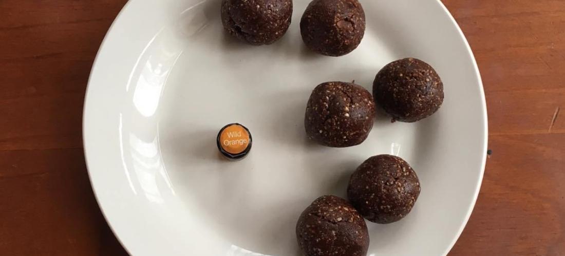 orange cacao bliss balls